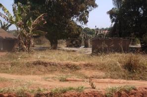 Zerstoerte Haueser in Yambio